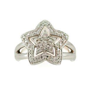 Ross Simons Celestial Diamond Star Sterling Ring